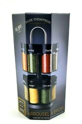 Olde Thompson 16 Jar Carousel Counter Top Spice Rack With Spices Included