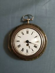 Operational Repousse Dutch Style Verge Fusee Pocket Watch By Wm Simms Of London