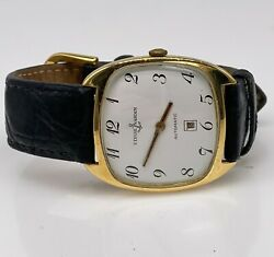 Vintage Ulysse Nardin Automatic 18k Yellow Gold Mens Date Watch Rare 36mm