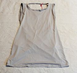 South Beach Women#x27;s Yoga Tank With Crossover Back CD4 Gray Size US:6 UK:10 NWT $10.19