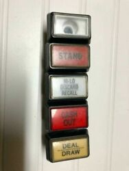 5 Buttons For Video Poker Slot Machines Used C