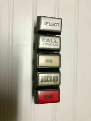 5 Buttons For Video Poker Slot Machines Used D