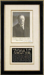 William H. Taft - Autographed Inscribed Photograph