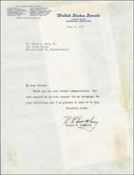 Hubert H. Humphrey - Typed Letter Signed 06/05/1952