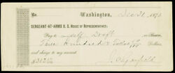 James A. Garfield - Autographed Signed Check 12/31/1873
