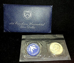 1972 S 1.00 Eisenhower Uncirculated Silver Dollar • Blue Pack