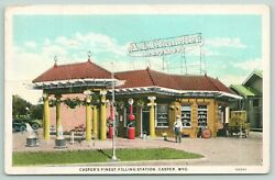 Casper Wyomingae Chandler At His Filling Stationvisible Gas Pumpseagles1920s