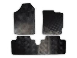 Car Mats For Toyota Yaris 2006-11 Tailored Fit Black Rubber Floor Set 3 Pieces