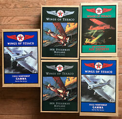 Wings Of Texaco Collection - Original 3 In Series - Five Total Mint - Nib