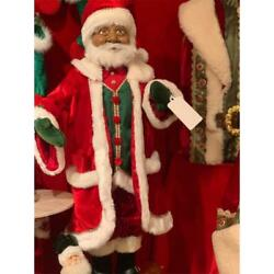 New 2020 Katherine's Collection 24 African American Santa Doll 28-028712