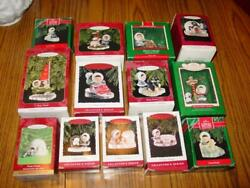 13 Hallmark Frosty Friends Ornaments - Collector's Series - Christmas Set