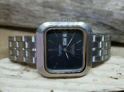 Rare Vintage Large Omega Constellation Black Dial Auto Daydate Man's Watch