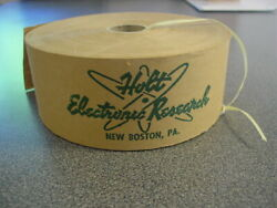 Holt Electronic Research New Boston PA CATV Cable TV Pioneers Packing Tape Roll
