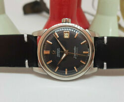 Vintage 1960 Omega Seamaster Calendar Black Dial Cal503 Auto Manand039s Watch