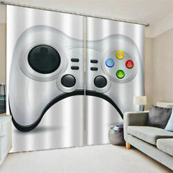 White Hole Pointing Game Machine Printing 3d Blockout Curtains Fabric Window