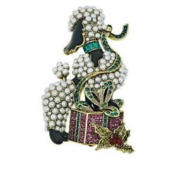 Heidi Daus French Gift Crystal-accented Poodle Pin