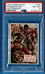 1954 Topps Scoop 155 Charge Off The Light Brigade Psa 8 Pop 2
