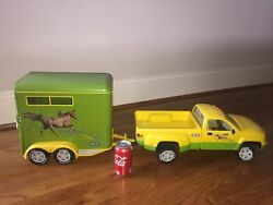 Breyer Horse Toy Yellow Green Truck and Trailer