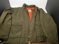 London Fog Large L 46 Mens Army Green Coat Jacket Pre Owned