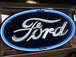 New Ford Oval Neon Sign 6 Feet Wide X 36 High - Neon Signs - Lifetime Warranty