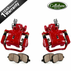 Rear Red Brake Calipers And Ceramic Pads Set For Infiniti I30 I35 Nissan Maxima