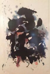 Sueo Serisawa Ink On Rice Paper Zen Painting By Japanese American Modernist