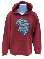 New Vintage Nike 6.0 Eagle Graphic Cotton Pullover Hoodie Claret M