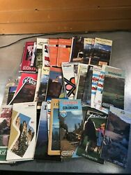 Lot Of 44 Vintage State Road Maps - Ca Or Wy Co Il Ny More