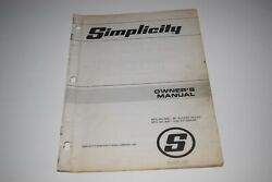 Simplicity Tractor 36 Rotary Tiller Owner's Manual And Parts List