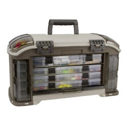 Plano Guide Series Angled Stowaway Rack Fishing Tackle Box Container Open Box
