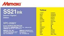 Mimaki Ss21 Solvent Ink 2 Liter Ink Pack Yellow Mpn Spc-0588y