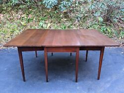 Vintage Solid Mahogany 72 Drop-leaf Straight Leg Dining Table W/two 24 Leaves
