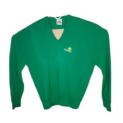 Vintage House Of Ireland Emerald Collection Green V-neck Sweater Xxl Usa Made