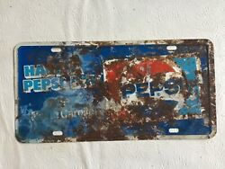 Have A Pepsi Day In North Carolina Metal Front Booster License Plate Tag