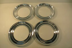 Vintage Nos 15 Beauty Rings Hubcaps 1940and039s Chevy Ford Chrysler Mopar Accessory