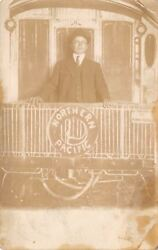 Minneapolisgust Richardsonnorthern Pacific Train Caboose1913 Real Photorppc