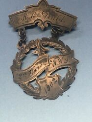 Antique Silver Dated 1902 Sporting Medal Excellant Condition