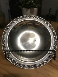 Wm Rogers And Son Spring Flower 2048 Silver Plate Serving Dish