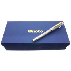 Onoto Limited Edition Excel Guilloche Sterling Silver Fountain Pen With Box