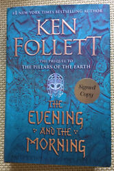 Ken Follett The Evening and the Morning SIGNED DEFECTIVE COPY 1st 1st HC DJ New $50.00