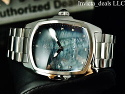 Men 47mm Grand Lupah Black Mop Dial Diamond Special Edition Silver Watch