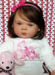 Rare Sold Out Aspen Rose Reborn,micro Rooted Human Hair/eye Lashes