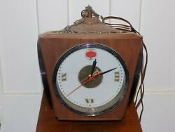 Vintage 1970andrsquos Schaefer Beer Lighted Hanging Clock Sign