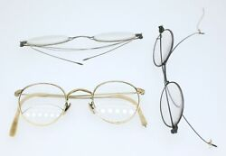 Antique Eyeglasses-3 Pairs-50 To 100 Years Old-used-fair Condition-signs Of Wear
