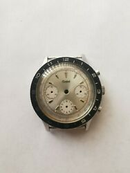 Vintage Gallet Chronograph Watch Stainless Case And Dial Valjoux 72 For Parts