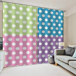 Subtitles Yellow Red Blue Purple Printing 3d Blockout Curtains Fabric Window