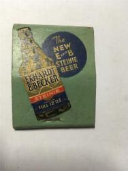 1940and039s Ekhardt And Becker Beer Ask For Steinie Beer Detroit Mi Empty Matchbook