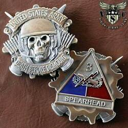 3rd Armored Division Spearhead Us Army Military Challenge Coin