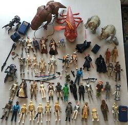 Huge Star Wars Lot Original 1970and039s - 2000 Action Figures Rare Toys Collectables
