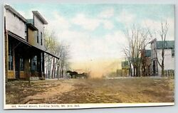 Mt Ayr Indianasecond Street Drug Storevisible Glass Gas Pumps On Cornerc1910